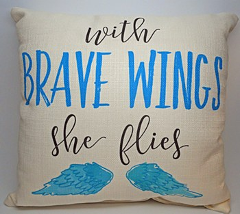 """""""Brave Wings"""" Pillow"""