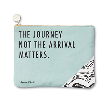"""Canvas Pouch """"The Journey"""""""