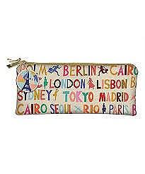 Cities Canvas Narrow Bag