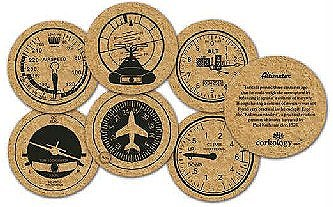 Cork Instrument Panel Coasters
