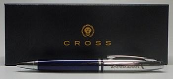 Cross Chrome/Blue Lacquer Pen