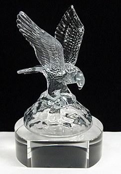 Crystal Eagle on Clear Base