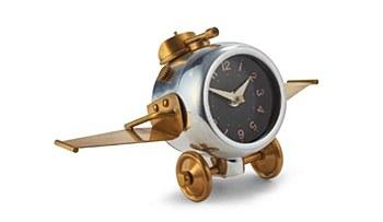 Desktop Aluminum Plane Clock