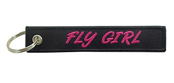 """""""Fly Girl"""" Embroidered Keychn"""