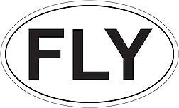 """""""Fly"""" Oval Sticker"""