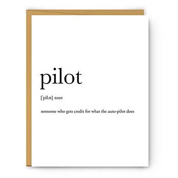 """""""pilot"""" Definition Card"""
