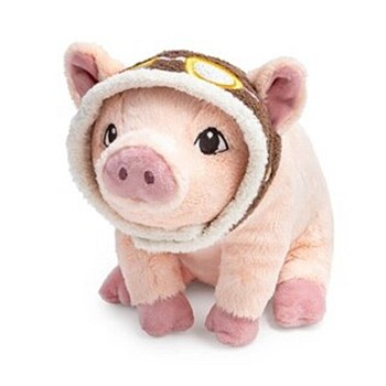 Plush Aviator Pig