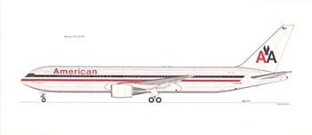 Print of 767-300