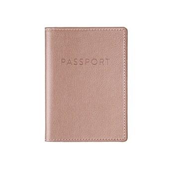 Rose Gold Passport Case