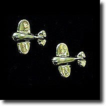 Silver Chubby Plane Earring