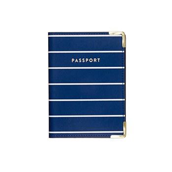 Striped Blue Pasport Cover