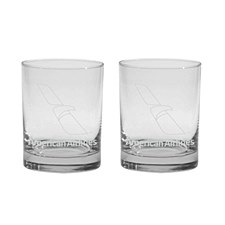 4 Rocks Glass Set AA Logo