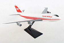 747 TWA Red Stripe 1:250 Scale