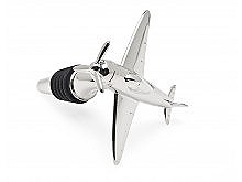 Airplane Bottle Stopper Nickel