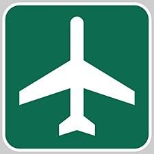 Airport Ahead Metal Sign