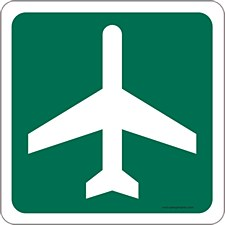 """Airport Ahead"" Mouse Pad"