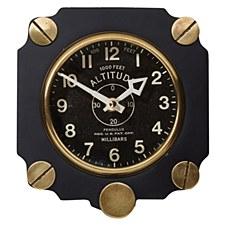 Brass/Alum Altimeter Clock BLK