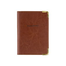 Brown Leather Passport Case