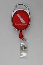 Carabiner Badge Reel Red