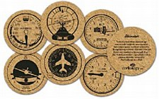Cork Instrument Panel Coasters