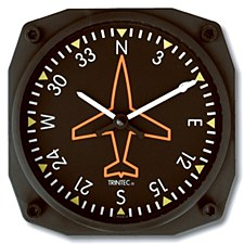 Directional Gyro Wall Clock