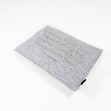 Embossed Tvl Pouch Lt Grey