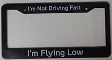 """""""Flying Low"""" License Frame"""
