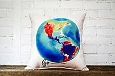"""""""Go"""" Globe Pillow"""