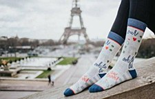 Ladies Paris Je T'aime Socks