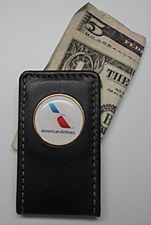 Magnetic Leather Money Clip