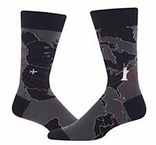 Men's World Map Socks