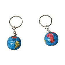 Metal Globe Keychain