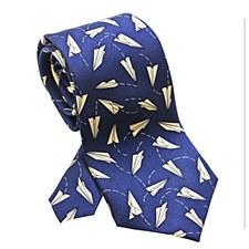 Paper Airplanes Silk Tie