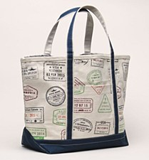 Passport Canvas Tote NVY