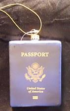 Passport Ornament