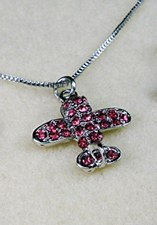 Pink Airplane Necklace