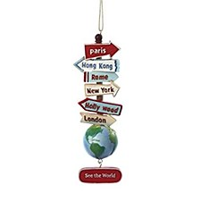"""See the World"" Sign Ornament"