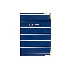 Striped Blue Pasport Cover