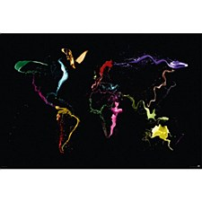 Throw Paint World Map