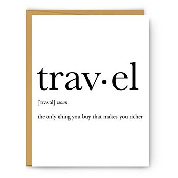 """travel"" Definition Card"
