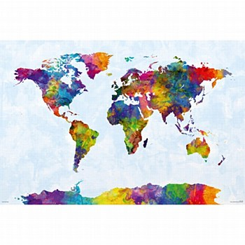 Watercolor Map Poster