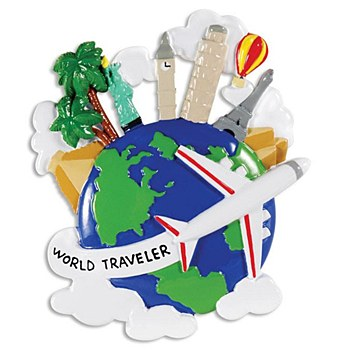 World Traveler Onament