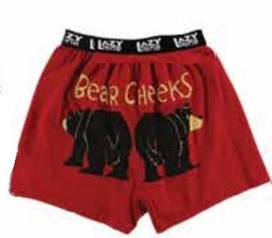 Boxer - Bear Cheeks -Red -MED
