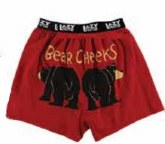 Boxer - Bear Cheeks -Red -MED