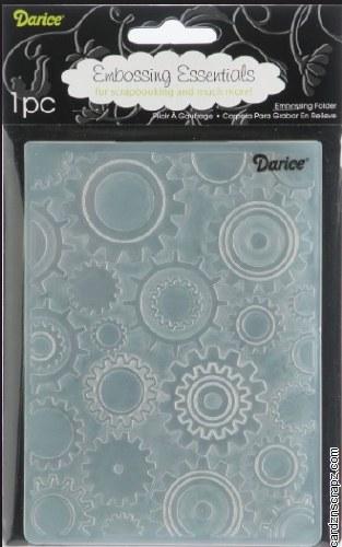 Darice Embossing Folder 4.25X5.75 Steam Punk Gears