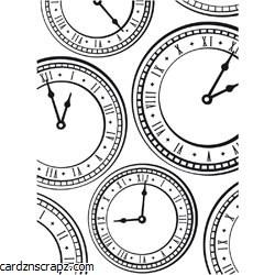Darice Embossing Folder 4.25X5.75 Clock Background