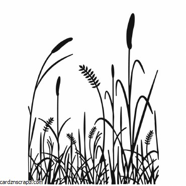 Darice Embossing Folder 4.25X5.75 Grass Silhouette