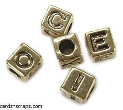 Darice Alphabet Beads 6mm 85pk Gold Plated