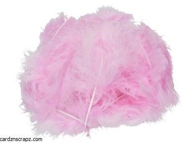 Feathers Marabou Pink 15pk