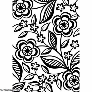 Embossing Folder D D/Flower